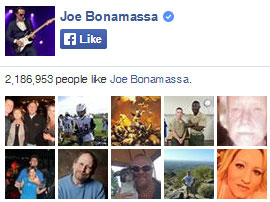 Joe Bonamassa on Facebook. 2,186,953 people like Joe Bonamassa. Yay!