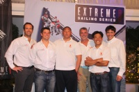 The six skippers competing in the Extreme Sailing Series Asia